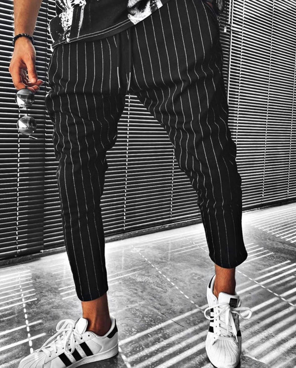 Sneakerjeans Black Striped Pant ES03