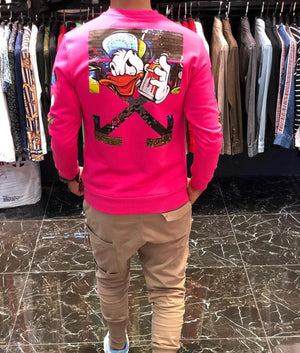 Sneakerjeans Pink Comic Printed Sweater ES64