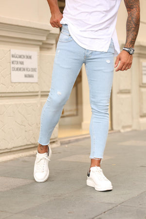Sneakerjeans Ice Blue Ripped Jeans DP65