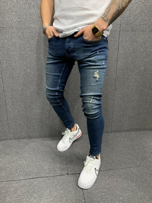Sneakerjeans Blue Ripped Jeans AY180