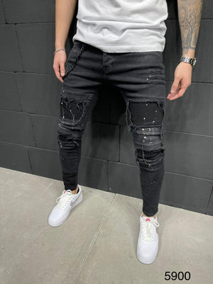 Sneakerjeans Patched Jeans AY234