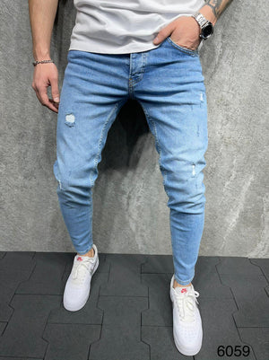 Sneakerjeans Blue Ripped Jeans AD094