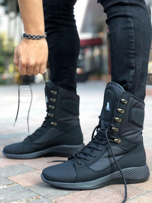 Sneakerjeans Black Combat Military Boots 222 - Sneakerjeans