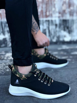 Black Camouflage Sneaker 0601-06