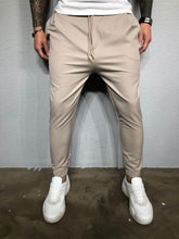 Load image into Gallery viewer, Beige Casual Jogger Pant BL407 Streetwear Jogger Pants