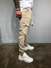 Load image into Gallery viewer, Beige Banding Front Pocket Ultra Skinny Denim BL422 Streetwear Jeans