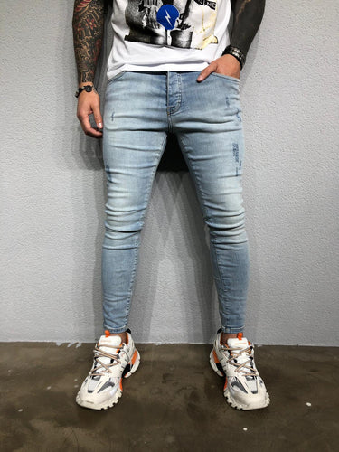 Light Blue Washed Ultra Skinny Pant BL435 Streetwear Jeans