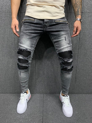 Sneakerjeans Gray Patched Jeans AY025