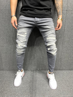 Sneakerjeans Gray Ripped Jeans AY126