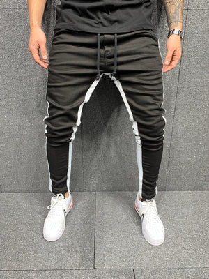 Sneakerjeans Black Striped Jeans AY081