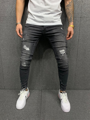 Sneakerjeans Black Ripped Jeans AY127