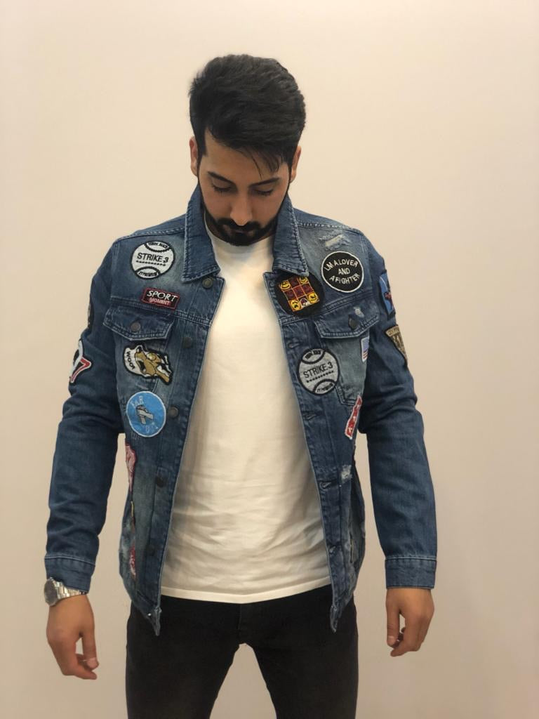 Sneakerjeans Patched Jeans Jacket AY161