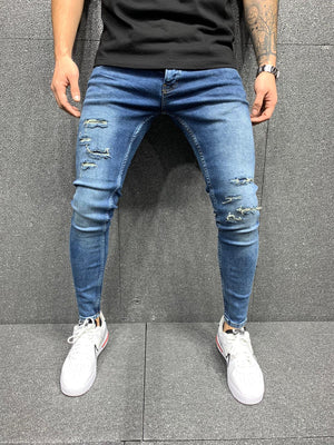 Sneakerjeans Blue Ripped Jeans AY118