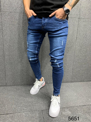 Sneakerjeans Blue Ripped Jeans AY058
