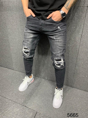 Sneakerjeans Gray Ripped Jeans AY084
