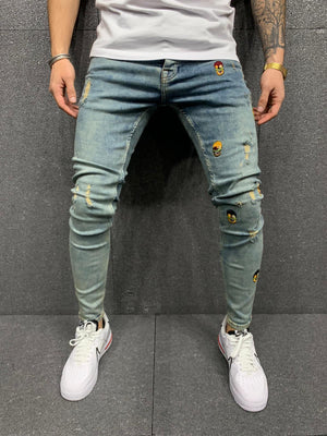 Sneakerjeans Blue Patched Jeans AY164