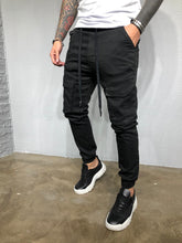 Load image into Gallery viewer, Black Banding Front Pocket Ultra Skinny Denim BL421 Streetwear Jeans