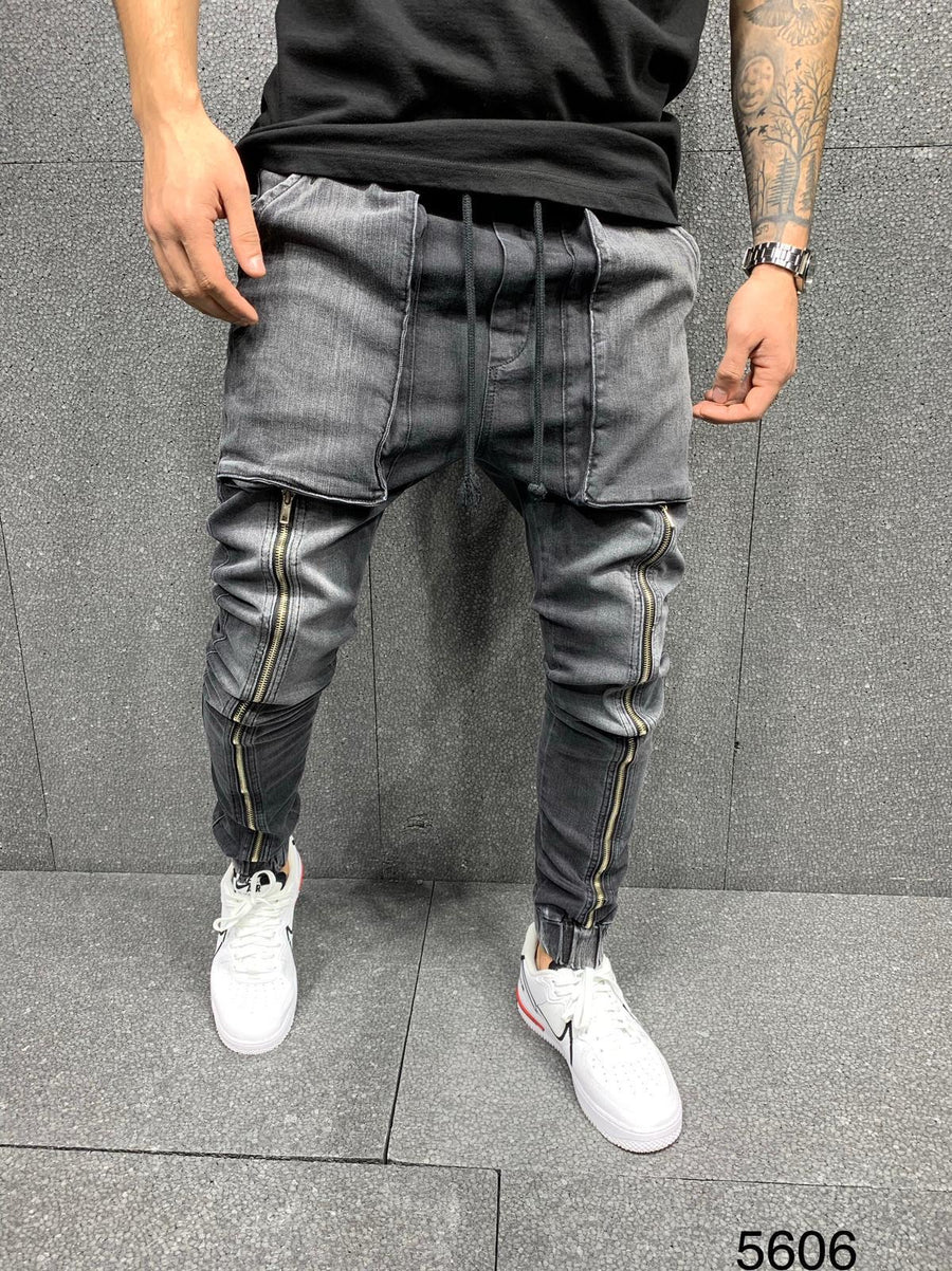 Sneakerjeans Black Baggy Jeans AY093