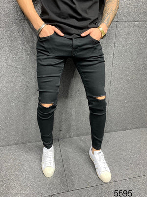 Sneakerjeans Black Ripped Jeans AY129
