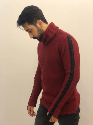 Sneakerjeans Bordeaux Collar Sweater AY159