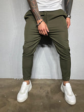 Load image into Gallery viewer, Khaki Casual Jogger Pant BL408 Streetwear Jogger Pants