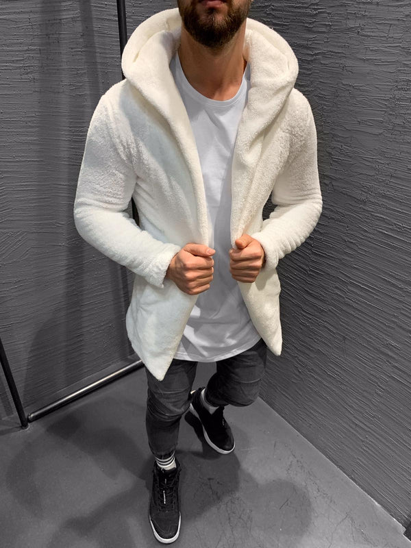 White Sherpa Jacket KB405 Streetwear Mens Jacket - Sneakerjeans