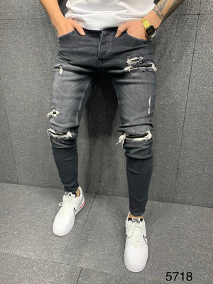Sneakerjeans Gray Ripped Jeans AY135