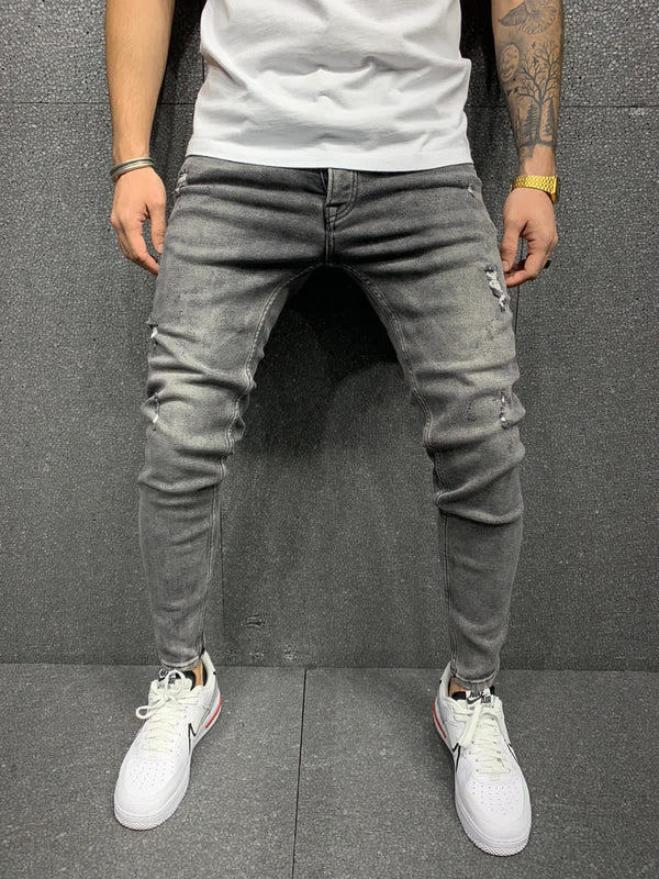 Sneakerjeans Gray Ripped Jeans AY170