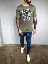 Load image into Gallery viewer, Khaki Printed T-Shirt BL430 Streetwear T-Shirts