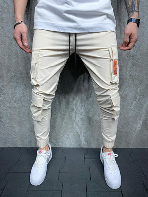 Sneakerjeans Beige Cargo Jogger Pant AD145