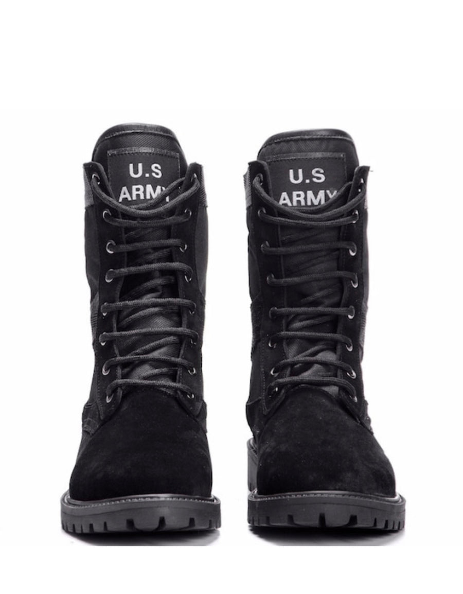 Sneakerjeans Black Army Print Desert Military Boots 484
