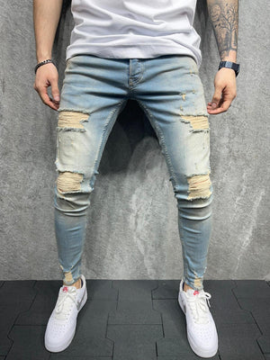 Sneakerjeans Blue Ripped Jeans AD137