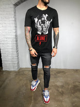 Load image into Gallery viewer, Black Printed T-Shirt BL432 Streetwear T-Shirts