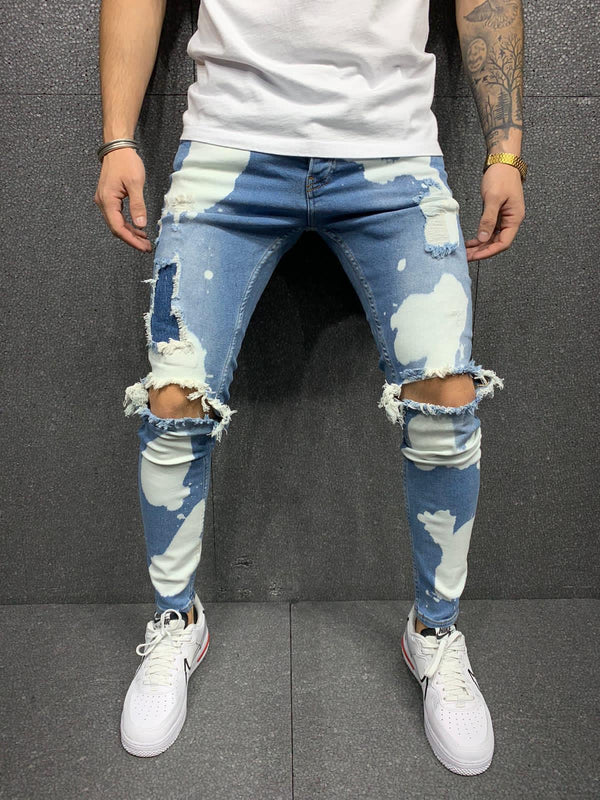 Sneakerjeans Blue Ripped Jeans AY167