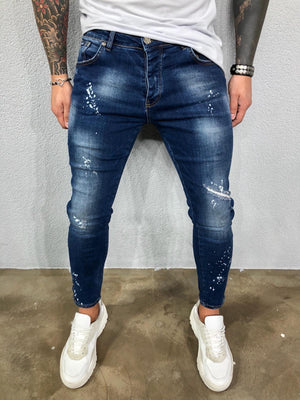 Blue Washed Ripped Ultra Skinny Pant BL576 Streetwear Jeans - Sneakerjeans