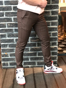 Brown Smoke Slim Fit Casual Pant DJ142 Streetwear Pant