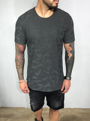 Anthracite Pattern Mens T-Shirt BL526 Streetwear Mens T-Shirts - Sneakerjeans