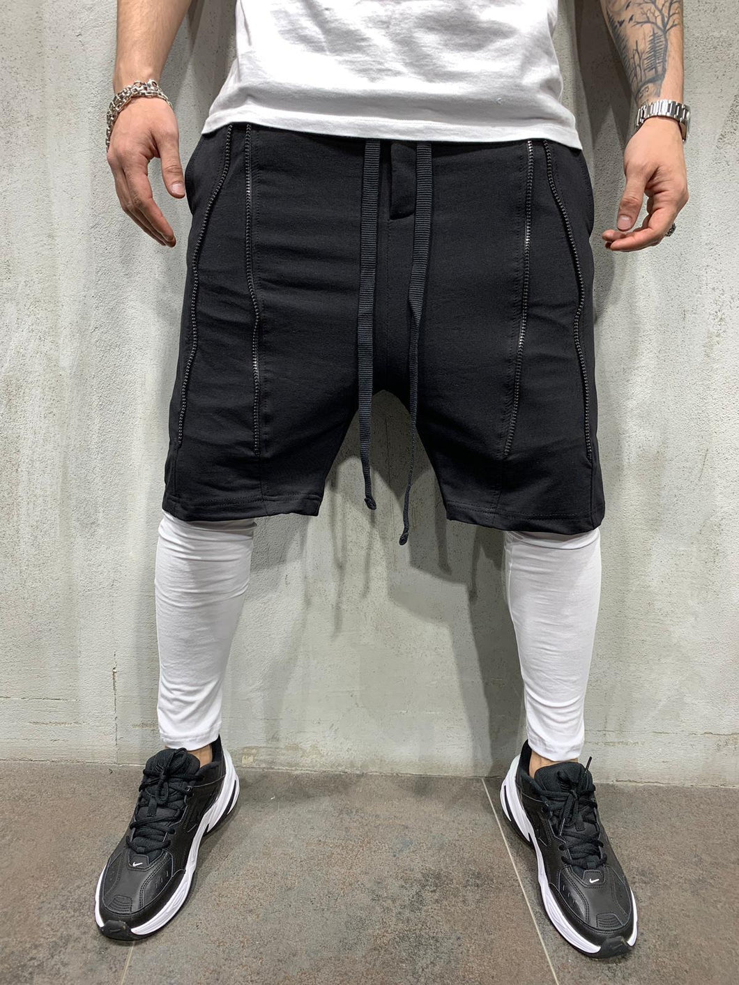Build In Black White Joggers AY418 Streetwear Mens Jogger Pants - Sneakerjeans