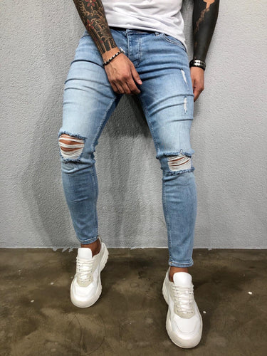 Light Blue Washed Ultra Skinny Pant BL578 Streetwear Jeans