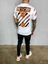 Load image into Gallery viewer, White Printed Oversized Mens T-Shirt BL468 Streetwear Mens T-Shirts