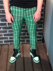 Green Checkered Slim Fit Casual Pant DJ104 Streetwear Pant