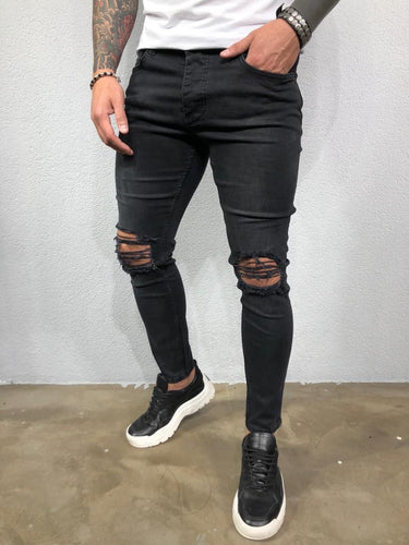 Black Washed Ripped Ultra Skinny Pant BL574 Streetwear Jeans