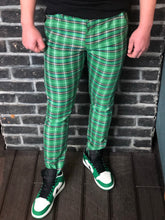 Load image into Gallery viewer, Green Checkered Slim Fit Casual Pant DJ104 Streetwear Pant
