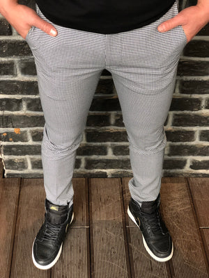 Gray Pattern Slim Fit Casual Mens Pant DJ177 Mens Pant - Sneakerjeans