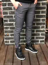 Load image into Gallery viewer, Black Pattern Slim Fit Casual Mens Pant DJ182 Mens Pant