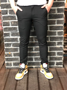 Black Slim Fit Casual Mens Pant DJ176 Mens Pant