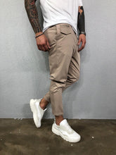 Load image into Gallery viewer, Beige Side Pocket Mens Casual Pant BL519 Streetwear Mens Pants - Sneakerjeans