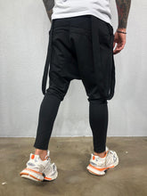 Load image into Gallery viewer, Strap Black Joggers BL444 Streetwear Mens Jogger Pants