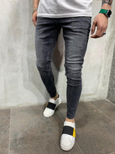Load image into Gallery viewer, Black Jeans Slim Fit Mens Jeans AY497 Streetwear Mens Jeans