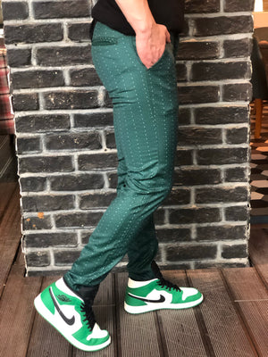 Green Slim Fit Casual Pant DJ110 Streetwear Pant - Sneakerjeans